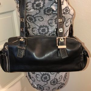 Perlina Leather Shoulder Bag Very Good Condition